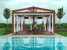 Looking for pergola design and ideas for your patio or backyard landscape? Famous pergola designs are wood pergola,freestanding or attached to house one. Diy Pergola, Pergola Retractable, Backyard Canopy, Pergola Canopy, Deck With Pergola, Wooden Pergola, Covered Pergola, Pergola Shade, Garden Canopy
