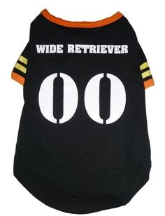 b3882b356ecc Glow in the Dark Pet Tee Wide Retriever Football Tee >>> Additional details  at the pin image, click it : Dog shirts