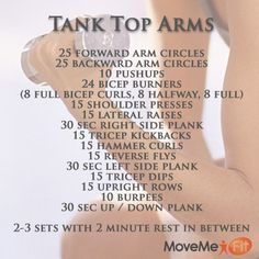 Get ready for summer with this Tank Top Arms Workout! Bikini Competition Workout Plan, Tank Top Arms, Types Of Belly Fat, Fitness Tips, Health Fitness, Shoulder Workout, At Home Workouts, Arm Workouts, I Work Out