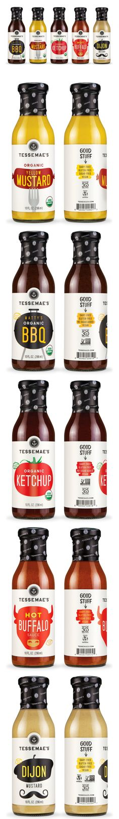 Tessemae's Condiments Get a Streamlined New Look — The Dieline | Packaging & Branding Design & Innovation News