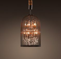 ok how beautiful is this birdcage light fixture!?