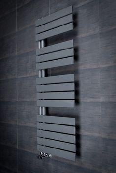 Kristiansund 1380 x 500mm Flat Sand Grey Designer Heated Towel Rail                                                                                                                                                                                 More