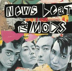 Shinro Ohtake 大竹伸朗 1981 The Mods - News Beat [Epic/Sony 28-3H-52] design: Takuji Nomoto〔野本卓司〕 #albumcover