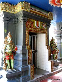 #74 Seetha Amman Kovil in Seetha Eliya, Sri Lanka. It is believed that Sitha was held captive here by the king Ravana as told in the Hindu epic, Ramayana.