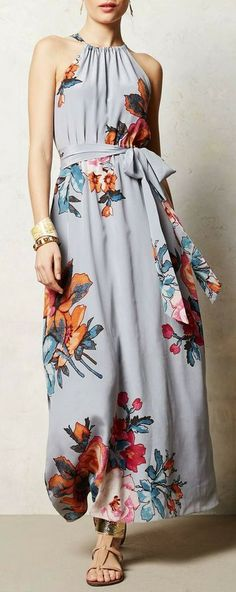 Anthropologie floral maxi dress #anthrofave I love this dress!!!