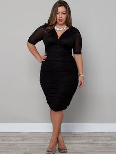 Betsey Ruched Dress in Black