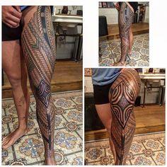 Tatouage Samoan, Samoan Tattoo, Hot Tattoos, Sleeve Tattoos, Body Art Tattoos, Tattoos For Guys, Tribal Tattoos, Tatoos, Polynesian Tribal
