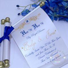 Royal Prince Princess Scroll Invitation Birthday Wedding Invitation