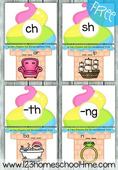 FREE Digraph Ice Cream Puzzles - these are such a fun way for kids to practice identifying both beginning and ending digraphs in words. This is perfect for literacy centers, summer learning for kids, and homeschooling with first grade and second grade kid First Grade Activities, Phonics Activities, Teaching Phonics, Teaching Art, Literacy Stations, Literacy Centers, Reading Centers, Reading Groups, Guided Reading