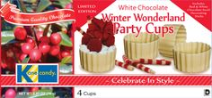 Chocolate Dessert Cups by Kane Candy. Premium Quality White Chocolate Party Cups provide a fantastic holiday dessert! Simply Fill & Serve!  www.KaneCandy.com