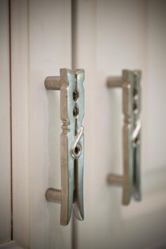 Laundry Room Knobs and Pulls. Want. Now. Found them here: http://www.cabinetknobsandmore.com/Michael-Aram-Utensil-and-Branch-and-Knobs.html