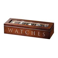 UniGift Wooden Watch Storage Box - Brown main product photo