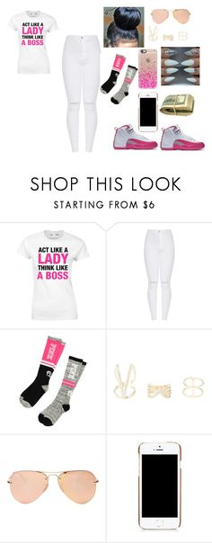 """""""a day out"""" by niah123bestie on Polyvore featuring Victoria's Secret, Charlotte Russe, Ray-Ban, Moschino and Casetify"""