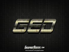 Metal style – Ged (free photoshop layer style, text effect) #graphicriders