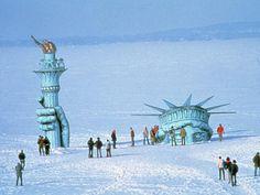 Classic. On frozen lake Mendota at UW-Madison, Wisconsin ~