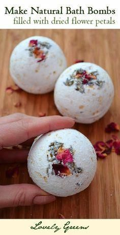How to make all natural Rose, Lavender, and Oatmeal Bath Bombs