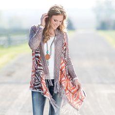 Rods Western Wear: Birmingham Beauty Cardigan  https://newdirtnoldboots.wordpress.com/2016/08/25/cowgirl-style-fall-outfits/
