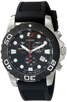 Calibre Men's SC-4A2-04-007 Akron Analog Display Quartz Black Watch ** You can find more details by visiting the image link.