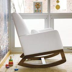 Nursery Rockers: White Leather Monte Design Joya Rocker in Rockers ...