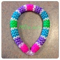 Rainbow Loom Bracelet Hexafish 6 Pin Fishtail **Clear, Glow & Super Neon Bands**