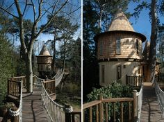 Tree Houses That Look Like Castles  #Treehouse Pinned by www.modlar.com