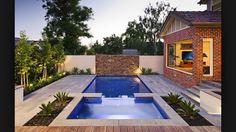 Tiny backyard pool