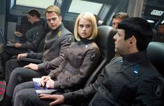 """See, Spock knew something was going on. Did Kirk? Noooooooo. """"Let's just take this little girl on board with us! We have no idea why or anything, but that's cool."""""""