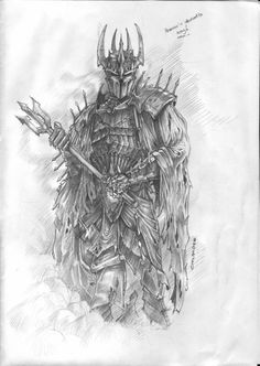 Lord of the Rings Sketches - Bing Images Hobbit Art, O Hobbit, Badass Drawings, Art Drawings Sketches, Fantasy Concept Art, Fantasy Art, Jrr Tolkien, Witch King Of Angmar, Lord Of The Rings Tattoo