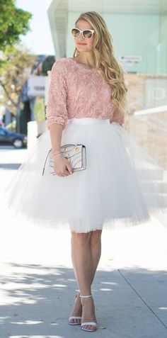 Blush And Tulle Inspiration Outfit