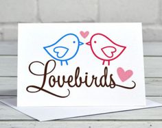 Lovebirds Valentine's Day Card CA022