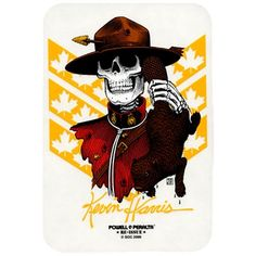 Powell Peralta Kevin Harris Mountie Skateboard Sticker.  Click on picture to purchase.