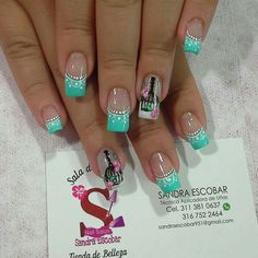 Nail art design idea for summer