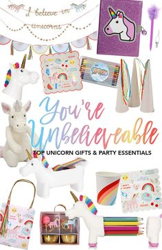 Swoozie's top unicorn gifts and party essentials! Shop now!