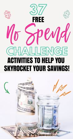 37 Free Activities to Rock a No Spend Challenge and Skyrocket your Savings - save money No Spend Challenge, Savings Challenge, Money Saving Challenge, Savings Plan, Saving Money Quotes, Money Saving Tips, Money Tips, Saving Ideas, Save Money On Groceries