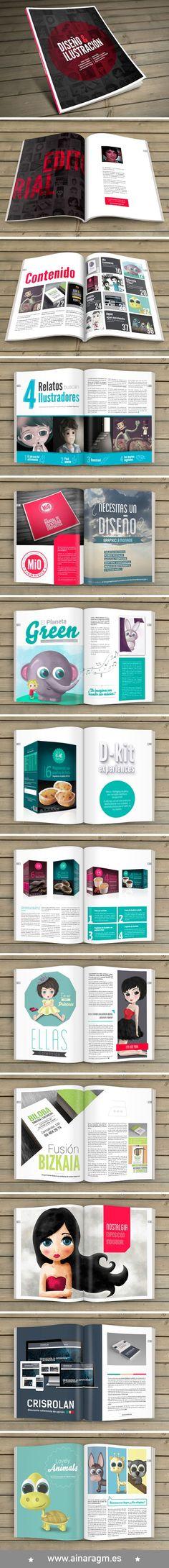 Diseño de revista para mostrar mi portfolio: