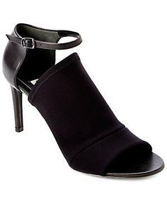 "Balenciaga ""Rift"" Leather Open-Toe Pump"