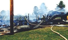 CAIRO — A fast-moving fire destroyed a horse barn with an attached apartment at Carousel Farms on Freehold Ford Road in Cairo this weekend.