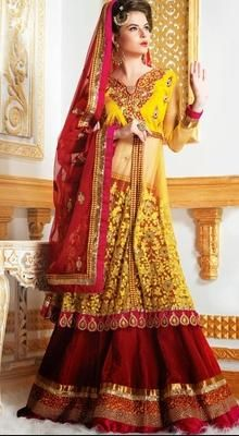 Sparkling Crimson Bridal Saree