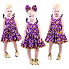 RYB Purple Haze play dress and matching bow headband