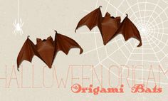 Origami bats to hang from the ceiling. The site leads to other videos with all sorts of origami.