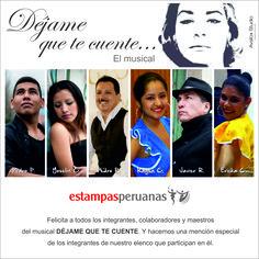 Diseño de felicitación a integrantes del elenco de bailarines de Estampas Peruanas