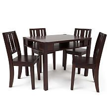 Babies R Us Next Steps Table with Storage and 4 Chairs Set  Espresso