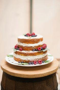 berry naked cake // Lauren R. Swann Photography - Heart Love Always