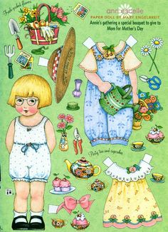 (⑅ ॣ•͈ᴗ•͈ ॣ)                                                       ✄Uncut Paper Doll by Mary Engelbreit Mothers Day