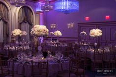 hydrangeas roses tall centerpieces white blush cream wedding flowers
