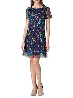 86ae4c6e5d Ramy Brook Graham Embroidered 3 4-Sleeve Dress in 2019