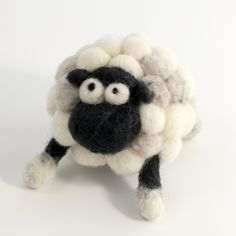 Needle felting small sheep kit. $24.00, via Etsy. Make a toy to decorate a dresser or bookcase in your kids rooms.