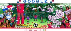 World Cup Doodle - Day 5 - Panama Google Doodles, Google Doodle Today, Google Today, Holiday Logo, World Cup 2018, Cyberpunk, Illustrators, Gadget, Cool Art
