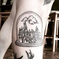 Daydreaming about being back at Hogwarts with this tattoo by @lordenstein. Tag your tattoos using #HogwartsTattoo and @hogwartstattoo.