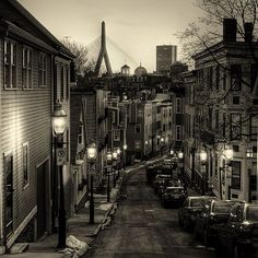 Charlestown by Bunker Hill Monument - Boston, MA.  Right around the corner from my old condo.  Love this area.